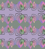 Spirals pattern purple pink violet green seamless Stock Image
