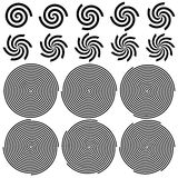 Spirals Pattern Set Stock Photos