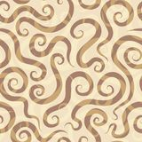 Spirals sand seamless pattern Royalty Free Stock Image