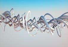 Röra sig i spiral i skyen Royaltyfri Fotografi