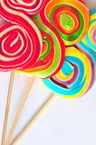 Spirals of sweet and color - candy Royalty Free Stock Images