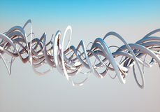 Spirals in the sky. Spirals twisting in the sky on a bright sunny day Royalty Free Stock Photography