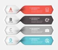 Spiralt infographicsbaner Arkivbild