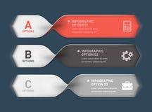 Spiralt infographicsbaner Arkivfoto