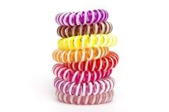 Spiralt scrunchy Fotografering för Bildbyråer