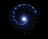 spiralt universum stock illustrationer