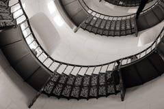 Spiraltrappuppgång i slotten Granitz arkivfoto