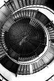 Spiraltrappuppgång i slotten Granitz royaltyfria foton