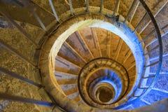 Spiraltrappuppgång, Rome Italien arkivfoto