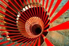 Spiraltrappuppgång Arkivbilder