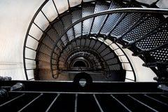 Spiraltrappuppgång av en fyr Fotografering för Bildbyråer