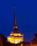 Spire of Admiralty Building at Night Royalty Free Stock Image