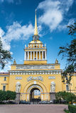 The spire of the Admiralty building, St. Petersburg, Russia Royalty Free Stock Photos