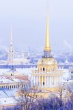 Spire of the Admiralty in St. Petersburg, Russia Royalty Free Stock Photo