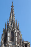 Spire on Barcelona Cathedral Royalty Free Stock Photos