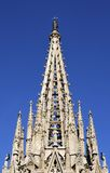 Spire on Barcelona Cathedral. Spain Royalty Free Stock Images