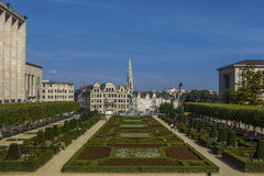 Spire Brussels City Hall Mont des Arts Belgium Stock Photos