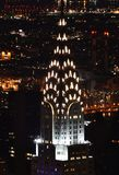 Spire of the Chrysler Building at Night Stock Photography