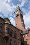 The spire of the  Copenhagen City Hall, Denmark Stock Photos
