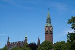 The spire of the  Copenhagen City Hall, Denmark Royalty Free Stock Image
