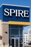 Spire Credit Union Exterior and Logo Stock Photo