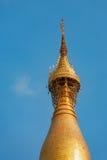 Spire decoration details of Myanmar pagoda Shwedagon in Yangon city Royalty Free Stock Photos