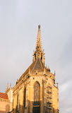 Spire detail of the ollegiale Saint-Thiebaut (Saint-Theobald col Stock Image