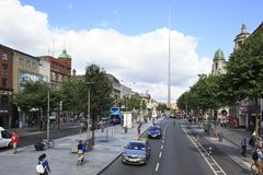 Spire of Dublin in O Connell Street Stock Image