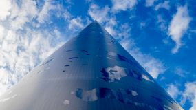 The Spire of Dublin. Blue Sky and clouds royalty free stock photo