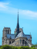 The spire and east side of Notre-Dame Cathedral Royalty Free Stock Photography