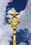 Spire with a five-pointed star Stock Image