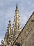 Spire and gargoyle of Barcelone cathedral Royalty Free Stock Photo