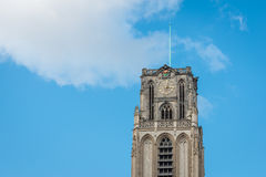 Spire Great or St. Lawrence Church in Rotterdam Royalty Free Stock Images