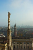 Spire of Milan cathedral Stock Photography