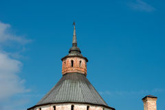 The spire of the Moscow (Ferapontov) tower Royalty Free Stock Image