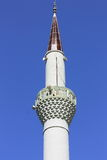 Spire of mosque. Spire of a mosque in the center of Kemer, Turkey Royalty Free Stock Photos