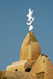 Spire on mud mosque in West Africa Stock Photography