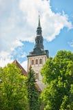 Spire of niguliste church in tallinn Royalty Free Stock Photo