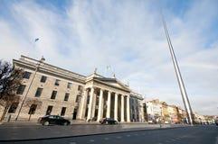 Spire och GPO, Dublin Royaltyfria Foton