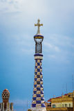 Spire in Park Guell Royalty Free Stock Photos