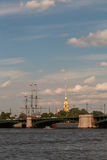 The spire of the Peter and Paul Cathedral Royalty Free Stock Images
