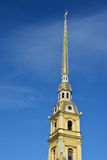 Spire of the Peter and Paul cathedral Royalty Free Stock Images