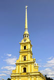 Spire of Peter and Paul Fortress in St. Petersburg Stock Photography