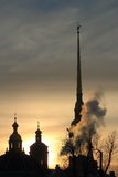 The spire of the Peter and Paul Fortress Royalty Free Stock Photo