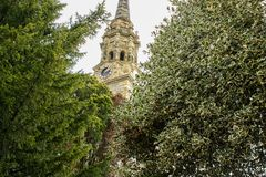 Church of St. Lawrence, Mereworth, Kent, UK stock images
