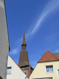 Spire on Saint Mary Church. Osnabruck, Germany Stock Photo