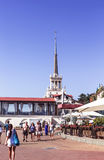 Spire of seaport in Sochi Royalty Free Stock Images