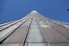 The Spire of the St. Olaf Church. In Tallinn, Estonia Royalty Free Stock Images