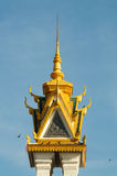 Spire of a temple in cambodia Royalty Free Stock Photo
