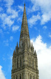 Spire tower. The spire of the tower against the sky stock photos